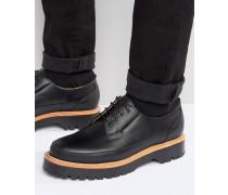 Derby-Schuhe aus schwarzem Leder, hergestellt in England Schwarz