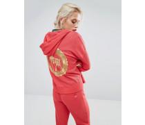 Glamours Palms Jacke mit hinten abfallendem Saum Rot