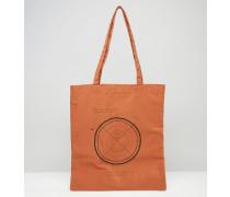 Rostrote Tasche mit Zielscheiben-Print Orange