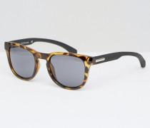 Jeans Tokyo Rechteckige Sonnenbrille in Schildpattoptik Braun