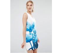 Jamina Tunikakleid mit blauem Print Weiß