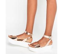 TALIA Sandalen mit Keilabsatz Gold