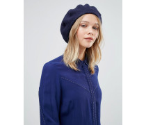 Wool Beret Hat Marineblau