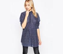 Mih Oversize-Hemd in Santi Blau