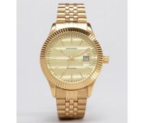 Exklusiv bei ASOS Uhr mit goldenem Armband Gold
