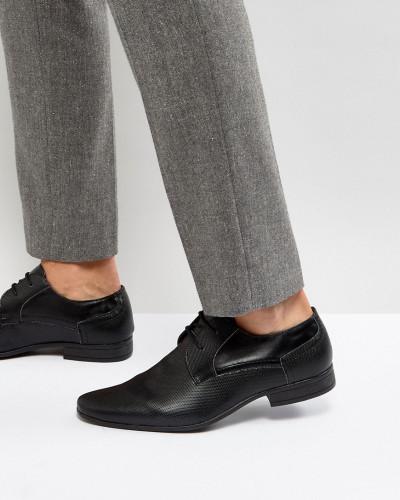 New Look Herren Perforierte Derby-Schuhe in Schwarz