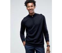 Pullover mit halbem Reißverschluss Marineblau