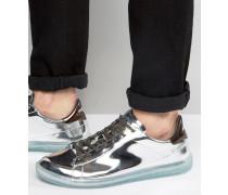 Naptik Sneaker in Metallic Silber