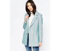 Zweireihiger Mantel Blau