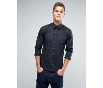 Schmales, elastisches Hemd Schwarz