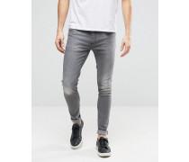 Skinny-Jeans Grau