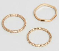 Femme Ringe im 3er-Pack Gold