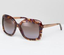 Übergroße Sonnenbrille Braun