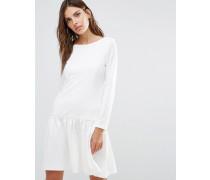 Kleid mit tiefer Taille Weiß