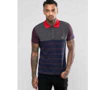T-Mother Jersey-Polohemd mit Streifen Marineblau