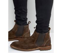 Andreae Chelsea-Stiefel aus Wildleder Braun
