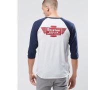 T-Shirt mit 3/4-Raglanärmeln und Rückenprint Grau