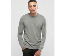 Grauer Pullover mit Rundhalsausschnitt Grau