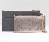 Geldbörse mit abnehmbarer Tasche Grau