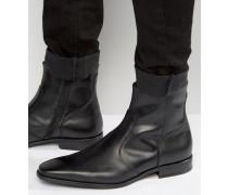 Boyce Lederstiefel mit Reißverschluss Schwarz