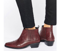 Western Ankle-Boots Braun
