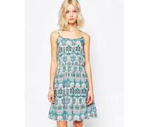 Sommerkleid mit Paisley-Muster Grün