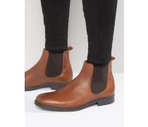 Oliver Chelsea-Stiefel aus Leder Bronze