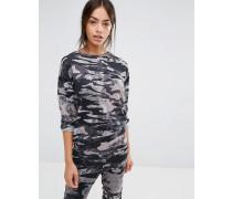 Schlafanzug-Sweatoberteil mit Trägern Mehrfarbig