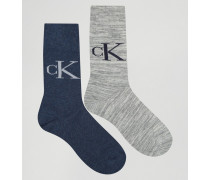 Socken mit Vintage-Logo im 2er-Pack Mehrfarbig