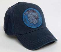 Baseballkappe aus gewaschener Baumwolle Blau