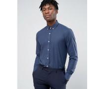 Elegantes Flanell-Hemd Marineblau
