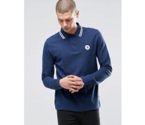 Chuck Langärmliges Polohemd in Blau, 10002129-A02 Blau
