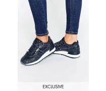 x Saucony Shadow 5000 Glitzernde Sneaker Marineblau