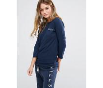 Jack Willls Fernhill Langärmliges Raglan-T-Shirt Marineblau