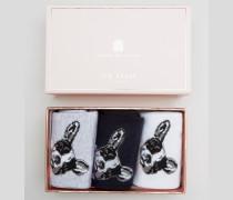 Rayen Geschenkbox mit Socken Grau