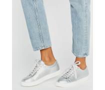 Sneaker in Silber Silber