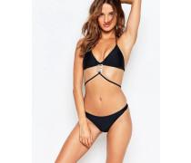 Träger-Bikiniset mit Anhängerdetails Schwarz
