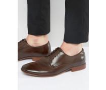 Derby-Schuhe aus braunem Kunstleder Braun