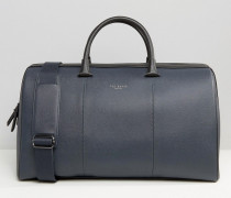Reisetasche mit gekörnter Oberfläche Marineblau