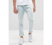 Schmale Jeans in hellblauer Waschung Blau