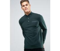 Polohemd aus Jersey Grün