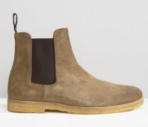 Chelsea-Stiefel aus Wildleder Grün