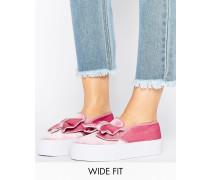 DISCOVER Breite Sneaker mit Schleife Rosa
