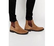 Chelsea-Stiefel aus Wildleder Braun