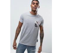 T-Shirt mit Brusttasche Grau