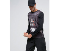 Halloween Star Wars Langärmliges Shirt mit Darth-Vader-Print Schwarz
