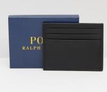 Kreditkartenhalter mit Prägung in Ponyfelloptik Schwarz