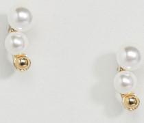 Filune Ohrringe mit Kunstperlen Cremeweiß