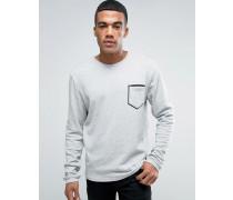 Sweatshirt mit Kontrasttasche Grau