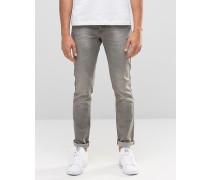 Eng geschnittene Jeans in verwaschenem Grau Grau